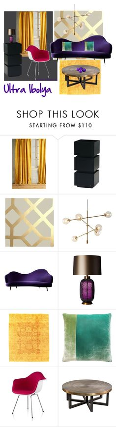 """""""Ultra Violet"""" by anna-tribikne-deak on Polyvore featuring interior, interiors, interior design, home, home decor, interior decorating, Anthropologie, Heathfield & Co., Kevin O'Brien and Herman Miller"""