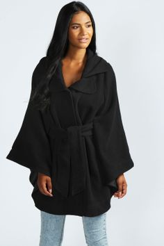 Elissa Oversized Belted Cape