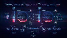 Space ship virtual interface Gnosis on Behance