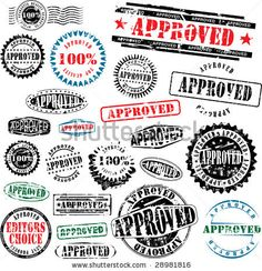 Collection of grunge office rubber stamps with word approved. See other rubber stamps in my portfolio. by Ints Vikmanis, via ShutterStock