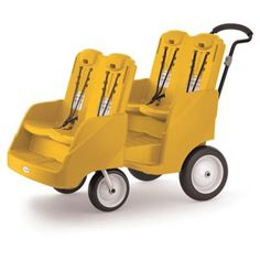 product image for Foundations® Gaggle 4 Multi-Passenger Buggy in Yellow