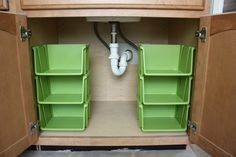 show JUST green Storage Baskets dollar tree | storage. I installed six of these open front stackable storage bins ...