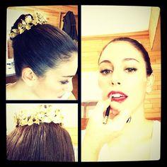 Blanca Suárez - sesión de make up para la  serie Blancanieves de Antena 3 con diadema de Rocio Porres Joyas - noviembre 2014