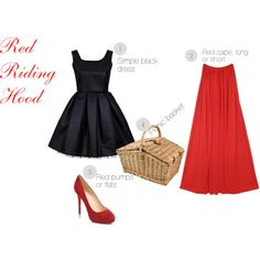 """""""DIY Costume: Red Riding Hood"""" by kellycupcake101 on Polyvore"""