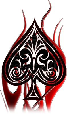 Tattoo Design Spade and Fire by on DeviantArt Queen Of Spades Tattoo, Spade Tattoo, Unique Playing Cards, Vegas Tattoo, Fire Tattoo, Flower Logo, Cool Tats, Black Silhouette, Arm Tattoos