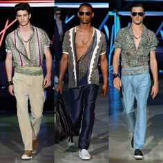 #RobertoCavalli Roberto Cavalli: Maintaining a relaxed silhouette, the Menswear collection merges the ease of the Miami playboy with #RobertoCavalli trademarks. Let's celebrate #PittiUomo87 with some of the best looks from the SS15 runway show!