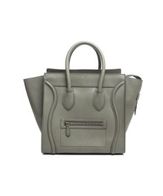 Celine Pre-Owned Celine Calfskin Mini Luggage Tote Bag Celine Tote 32f870ddf1d91