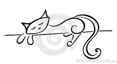 Silueta de un gato negro
