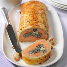 Salmon Coulibiac - Salmon Fillet En Croute