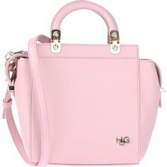 Givenchy Handbag (£730) ❤ liked on Polyvore featuring bags, handbags, purses, accessories, pink, givenchy bags, studded satchel, givenchy purse, satchel purse and pink handbags