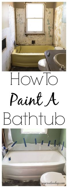 How To Paint A Bathtub   Looking For An Inexpensive Way To Change The  Bathtub In
