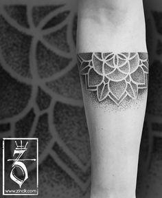 Martin Tattooer Zincik - Czech tattoo artist, Half mandala dotwork tattoo design, Tetování Brno / Praha