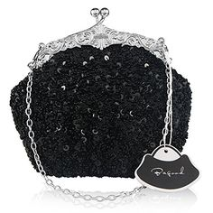 Bagood Women's Vintage Evening Bags Clutches Purses Handbag Shoulder Bag  [ Feature ] Sequin flower design, the surface decorated by the seed beads. The exquisite and elegant style made you 100% attracts lots of admiring glances  [ Enough Space ] Size: 20*16*8cm ( 7.8*6.3*3.2 inches). It can easily hold your cosmetics, such as makeup brushes and lip sticks, feminine hygiene products, mobile phones, wallets, sunglasses and any other small necessities  [ Two Ways To Carry ] The removable...