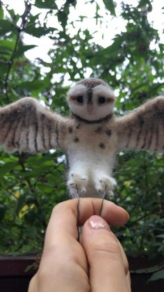 Needle Felted Owl, Harry Potter Owl, Tawny Owl, Little Barn, Spring Song, Burrowing Owl, Owl Ornament, Shetland Wool, Woodland Decor