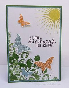 Stampin' Up! Kinda Eclectic - Love the greenery stamping in the corner.