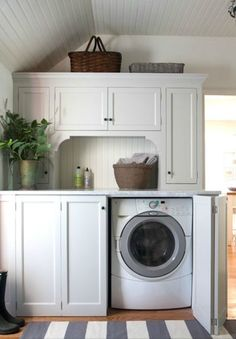 Laundry Room ~ hidden washer & dryer