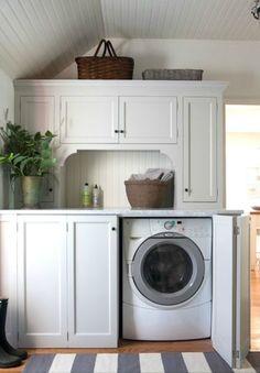 Laundry Room ~ hidden washer & dryer