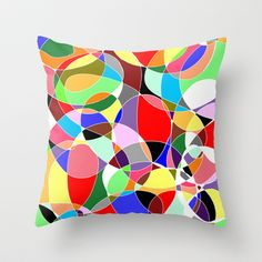 Love Doodles Throw Pillow by Demoose - 20.00