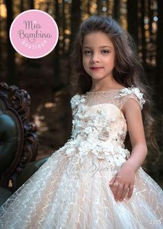 7d51ecc2cee0 Flower Girl Dresses Aruba - flower girl dress with 3D floral lace appliques  & tulle skirt