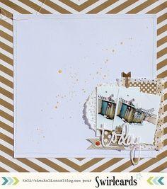 Page hiver de Kali, avec du doré! Collection ORchidée de Swirlcards