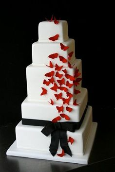 Amazing Red, Black And White Wedding Cakes [27 Pic]   Awesome Pictures