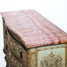 View this item and discover similar for sale at - An Italian Painted Marble Top Commode from the Century. This highly decorative commode is superb quality. Century, Living Furniture, Craftsmanship, Marble, Decorative Boxes, Commode Chest, Marble Top, Home Decor, Commode