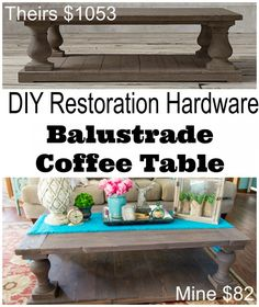 How to build a Restoration Hardware inspired DIY coffee table - by Restoration Redoux @ girlinthegarage.net