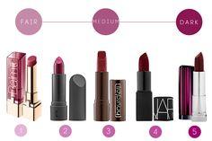 Red wine lipstick
