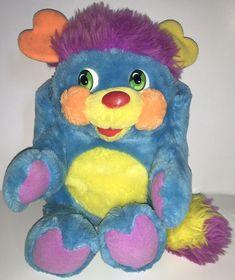 "VTG 1985 Mattel Popples PC Pretty Cool 12"" Plush Doll Blue Pink Orange EUC  | eBay"