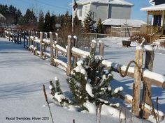 Clôture en perches guide de construction - Installer une clôture - Pieux de cèdre - clôture rustique