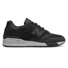 new products 2dbde fc841 NEW Balance Suede 597 Men  Black (ML597PTC) (8.5-Men),