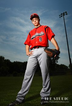 ©The Studio • La Crosse, WI www.TheStudioOnMain.com  Boy • Senior • Pictures • Portraits  Baseball • Sports