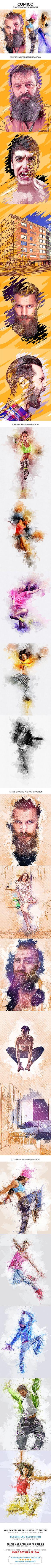 Comico Photoshop Action Bundle - Photo Effects Actions