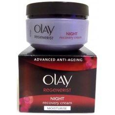 Olay Regenerist Night Recovery Cream 50ml Olay Regenerist, My Beauty, Recovery, Moisturizer, Container, Cream, Night, Moisturiser, Creme Caramel