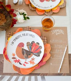 An easy and adorable Thanksgiving DIY placemat for your little one to share what they're thankful for!