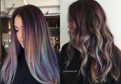 Oil slick - Rainbow hair dark shades
