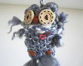 Handmade Owl Ornament- Winter Owl- Christmas Decor