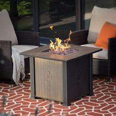 Bond Lari Gas Fire Table with Cover - 50974