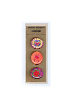 Funky Fridge Magnets Colorful Fun Great by TaunyasButtonsnBows