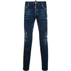 Dsquared2 City biker jeans (€570) ❤ liked on Polyvore featuring men's fashion, men's clothing, men's jeans, blue, mens blue ripped jeans, mens zipper jeans, mens blue jeans, mens distressed jeans and mens destroyed jeans