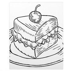 Cake Slice Vintage Retro Woodcut Style Plaque - retro gifts style cyo diy special idea