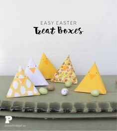 Easy Easter Treat Boxes by Pysselbolaget / The Crafty Swedes