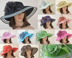 Beautiful bucket hats for summer, fashionable bucket hat and fedora hat of various colors and shapes provided by spowwow are your best choice for new style floral womens dress church wedding kentucky derby wide brim straw summer beach hat Royal Ascot Ladies Day, Kentucky Derby Dress, Church Hats, Fancy Hats, Wearing A Hat, Dress Hats, Hats For Women, Church Wedding, Summer Beach