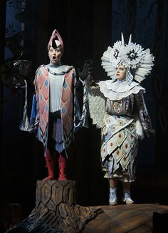 """The Owl I wanted to make the owl one of the most stand out costumes, partly because it's role is so short on stage. Starched laces make the owl look victorian which was an unusual subject for that time."""