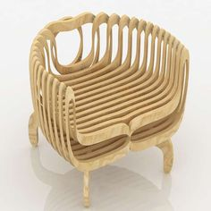 125 Sculptural Chair Designs - From Ribcage Chairs to Typographic Seating (CLUSTER) Design Furniture, Plywood Furniture, Unique Furniture, Luxury Furniture, Chair Design, Futuristic Furniture, Inexpensive Furniture, Cheap Furniture, Furniture Ideas