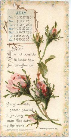 DICKENS CALENDAR FOR 1898 -july