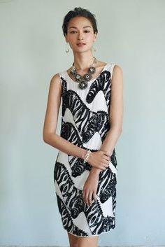 obsessed. #zebra #dress // @Anthropologie