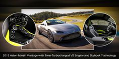 The 2018 #AstonMartin Vantage is a luxury coupe that is fitted with a twin-turbocharged V8 engine and Skyhook Technology to deliver an unparalleled driving experience. To know more, read our blog. #UAE