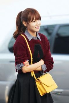 Sooyoung Ponytail With Bangs Hair Ulzzang Hair Korean Bangs intended for measurements 750 X 1125 Korean Hairstyle Ponytail - When an individual that has Korean Bangs Hairstyle, Bangs Ponytail, Cute Ponytails, Ponytail Hairstyles, Hairstyles With Bangs, Korean Hairstyles, Sporty Ponytail, Trendy Hairstyles, Haircuts