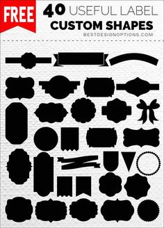 Over 3000 Photoshop custom shapes that you can use for free. In case you are new to custom shapes, a short tutorial on how to use shapes is also included. Svg Shapes, Banner Shapes, Label Shapes, Free Shapes, Photoshop Shapes, Cool Photoshop, Photoshop Actions, Photoshop Tutorial, Advanced Photoshop